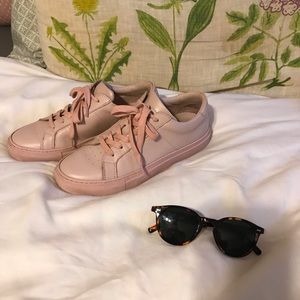 GREATS Millennial Pink Real Leather Sneakers